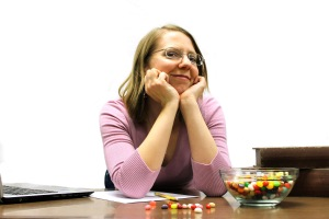 Claire Ball is an accountant, also known as a bean counter... and jelly beans are the funnest beans to count!